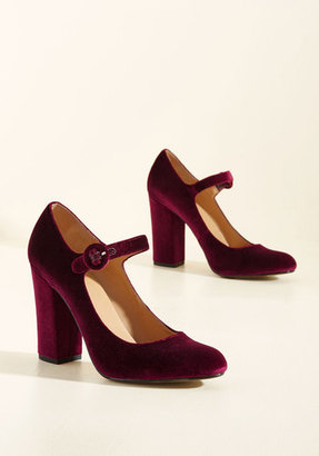 Report Footwear Going Through the Loco-Motions Velvet Heel in Maroon $49.99 thestylecure.com