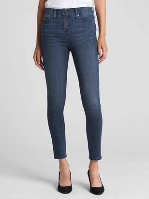 Gap High Rise True Skinny Ankle Jeans with Zip Front