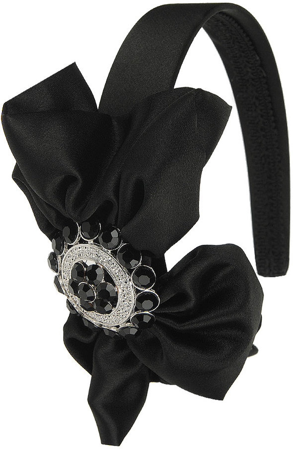 Pendant Satin Bow Headband