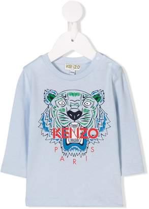 Kenzo Tiger print long-sleeved T-shirt
