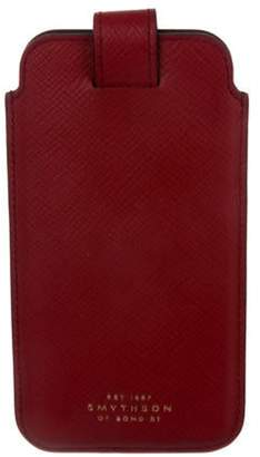 Smythson Leather Phone Case Red Leather Phone Case