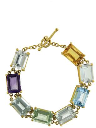 Cathy Waterman Amethyst, Citrine and Topaz Bracelet - Yellow Gold