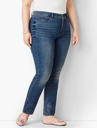 Talbots Plus Size Exclusive High-Rise Straight-Leg Jeans - Baxter Wash