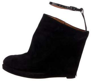 Givenchy Suede Wedge Booties