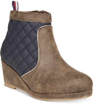 Tommy Hilfiger Cate Quilted Wedge Boots, Little & Big Girls