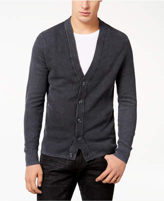 INC International Concepts I.N.C. Men's Acid Wash Cardigan, Created for Macy's