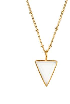 Mirabelle Jewellery Power Triangle Large Rock Crystal Pendant