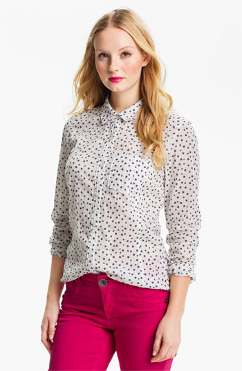 Caslon Long Sleeve Shirt (Regular & Petite)