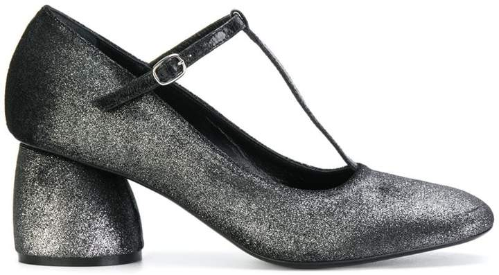 glitter-effect buckled pumps - Black Strategia wvxD5jWmc5