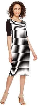 Three Dots Mykonos Stripe Blocked Sheath Women's Clothing