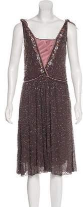Megan Park Beaded Silk Dress