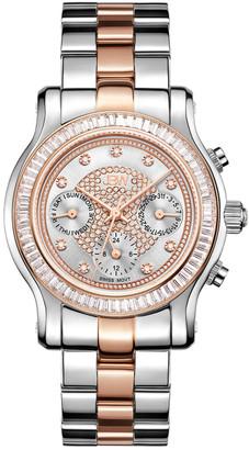 JBW Women's Laurel Diamond & Crystal Watch