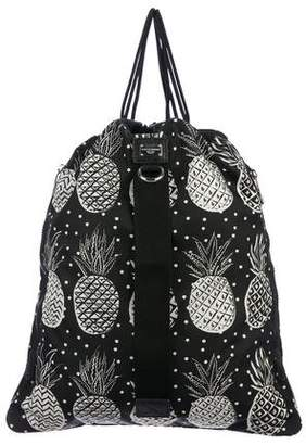 Dolce & Gabbana 2017 Pineapple Print Backpack w/ Tags