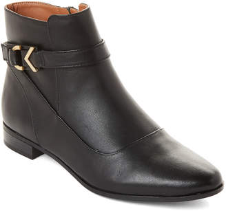 Calvin Klein Black Farryn Leather Ankle Boots
