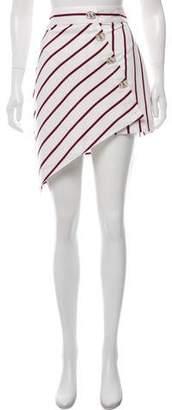 Alexis Striped Asymmetrical Mini Skirt w/ Tags