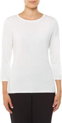 TanJay Tan Jay Raised Poka Dot Puover Sweater