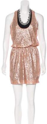 Robert Rodriguez Silk Embellished Dress