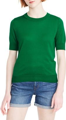 J.Crew Short Sleeve Crewneck Tencel® Lyocell Blend Sweater