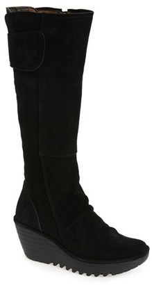 Women's Fly London 'Yulo' Knee High Wedge Platform Boot $259.95 thestylecure.com