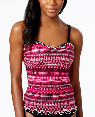 Profile by Gottex Striped D-Cup Tankini Top $98 thestylecure.com