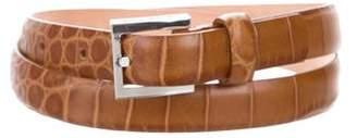 Michael Kors Embossed Leather Buckle Belt
