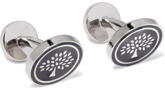 Mulberry Enamelled Silver-Tone Cufflinks