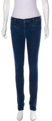 MiH Jeans Mid-Rise Skinny Jeans