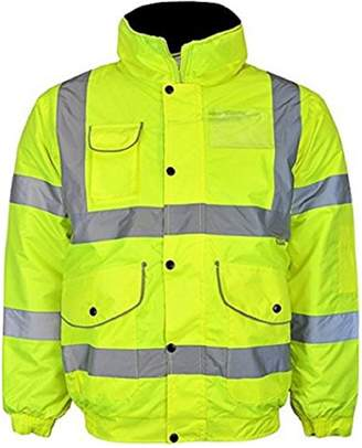 Kentex Online Men's High Visibility Bomber Padded Winter Jackets Concealed Hood XXXXXX-Large