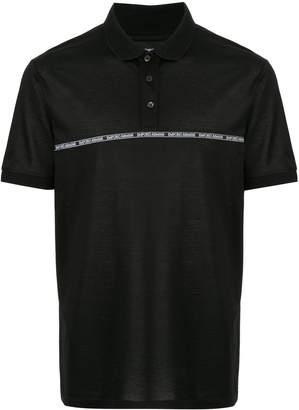 Emporio Armani logo tape polo shirt