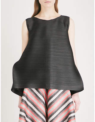 Pleats Please Issey Miyake Edgy Bounce pleated top