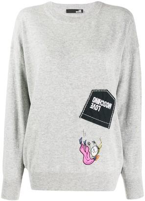 Love Moschino logo patchwork sweater