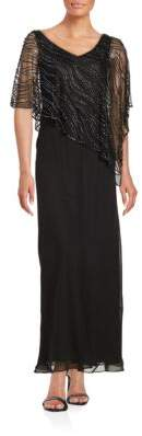 J Kara Beaded Popover Gown