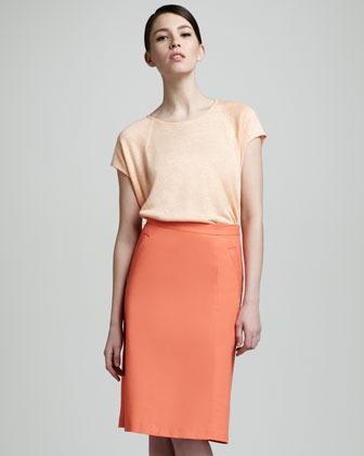 Lafayette 148 New York Regis Pencil Skirt