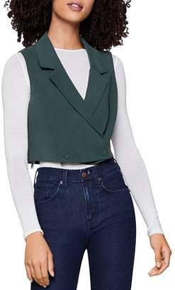 BCBGeneration Double-Breasted Cropped Vest