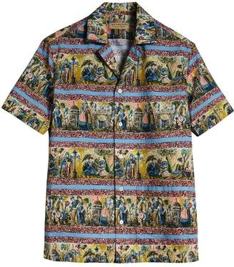Burberry short-sleeve figurative-print shirt