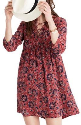 Women's Madewell Silk Babydoll Dress $168 thestylecure.com