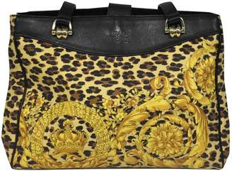ff5a91c3c2 ... Versace Vintage Yellow Cloth Handbag