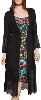 BCBGMAXAZRIA Lace-Trim Kimono