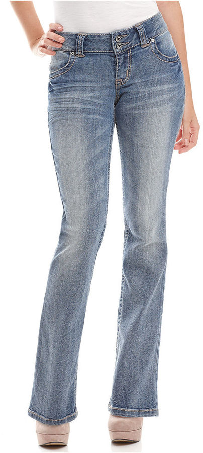 Grane Juniors Jeans, Selma Curvy Bootcut Faded Sunset Regency