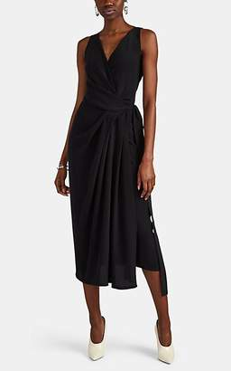 204237c0a5a12 Rick Owens Women's Limo Draped Silk Crepe Short Dress - Black