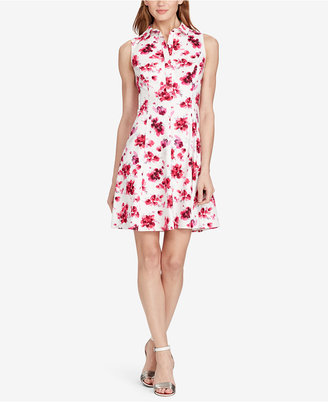 American Living Floral-Print Sateen Dress $89 thestylecure.com