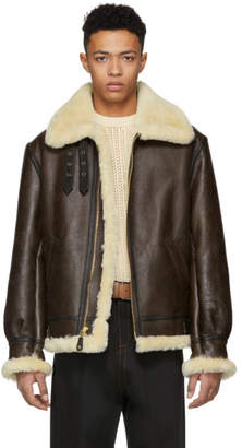 Schott Brown B-3 Shearling Jacket