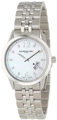 Raymond Weil Women's 5670-ST-05985 Freelancer Date Mother-Of-Pearl Dial Watch