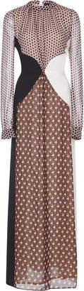 Giambattista Valli Polka-Dot Paneled Silk Gown