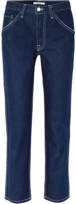 GRLFRND Janice High-rise Straight-leg Jeans - Dark denim
