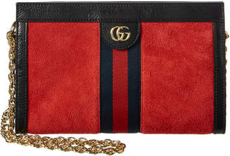 Gucci Ophidia Small Suede & Leather Shoulder Bag