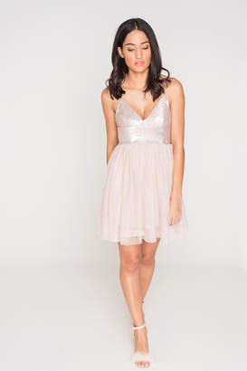 Ardene Sequin Mesh Mini Dress