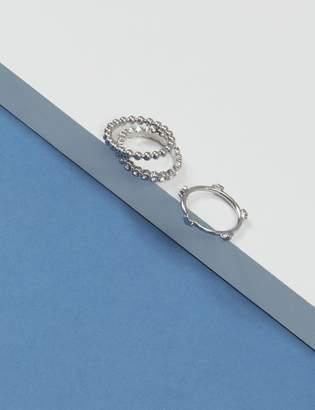 Lane Bryant 3-Stack Textured Ring Set