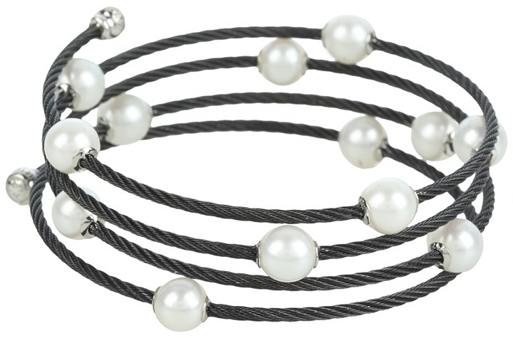 Charriol Bracelet 04-52-P013-00 (Black Cable/White Gold) - Jewelry