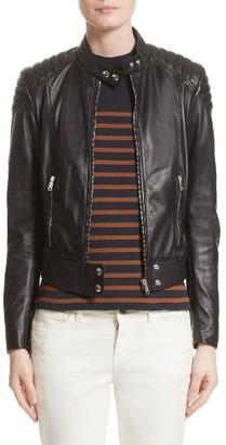 Women's Belstaff Mollison Leather Moto Jacket $1,295 thestylecure.com